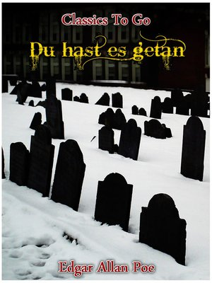 cover image of Du hast es getan