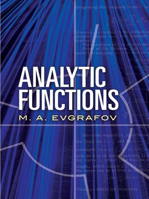 cover image of Analytic Functions