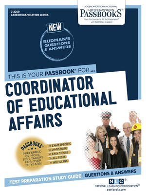 cover image of Coordinator of Educational Affairs