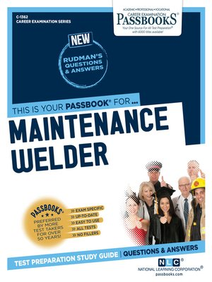 cover image of Maintenance Welder