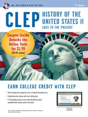 cover image of CLEP History of the U.S. II w/ Online Practice Exams