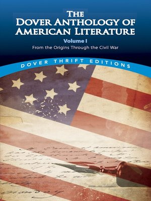 cover image of The Dover Anthology of American Literature, Volume I