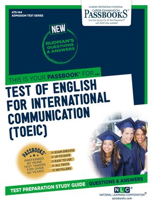cover image of TEST OF ENGLISH FOR INTERNATIONAL COMMUNICATION (TOEIC)