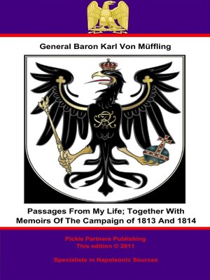 cover image of Passages from My Life; Together with Memoirs of the Campaign of 1813 and 1814