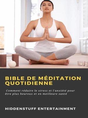 cover image of Bible de méditation quotidienne
