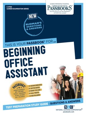 cover image of Beginning Office Assistant