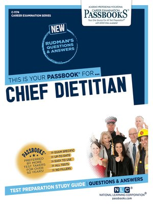 cover image of Chief Dietitian