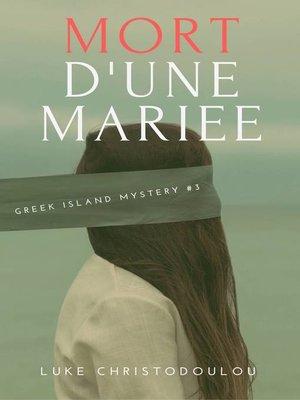 cover image of Mort d'une mariée