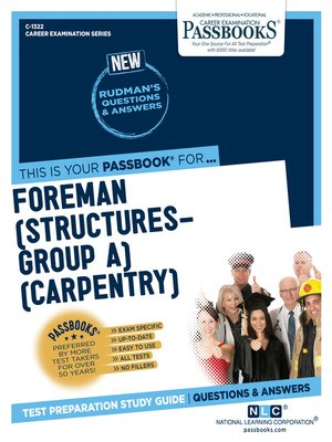 cover image of Foreman (Structures-Group A) (Carpentry)