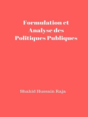 cover image of Formulation et Analyse des Politiques Publiques