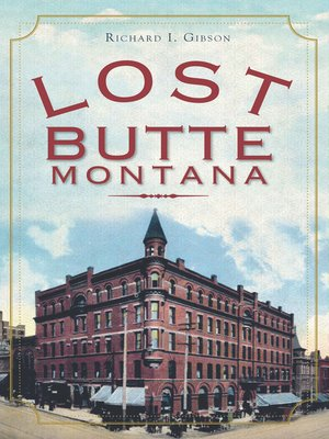 cover image of Lost Butte, Montana