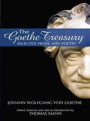 cover image of The Goethe Treasury
