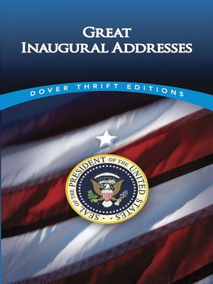 cover image of Great Inaugural Addresses
