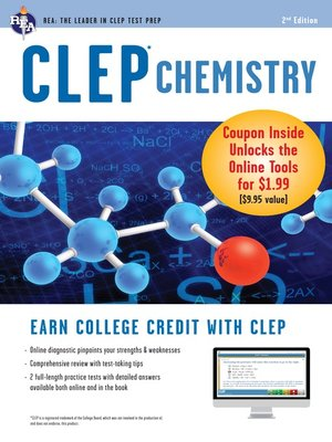 cover image of CLEP Chemistry Book + Online