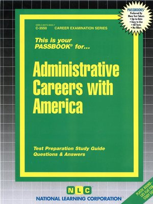 cover image of Administrative Careers with America