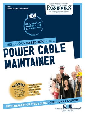 cover image of Power Cable Maintainer