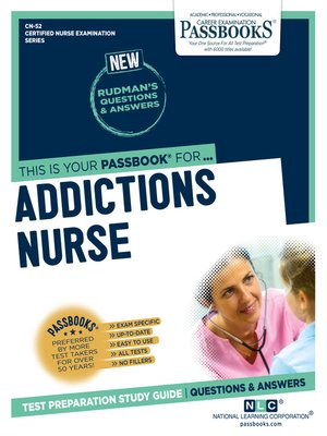 cover image of Addictions Nurse