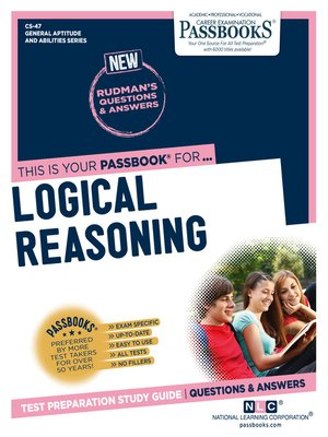 cover image of LOGICAL REASONING