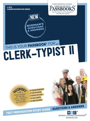 cover image of Clerk-Typist II