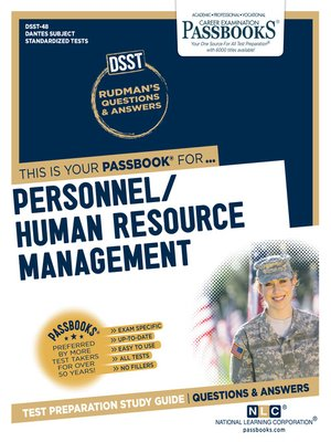 cover image of PERSONNEL/HUMAN RESOURCE MANAGEMENT