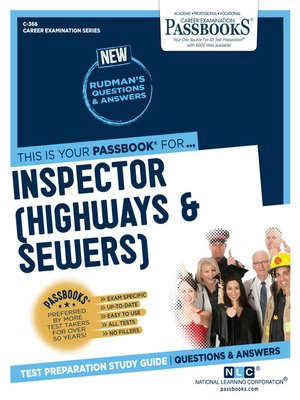cover image of Inspector (Highways and Sewers)