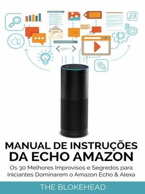 cover image of Manual de instruções da Echo Amazon