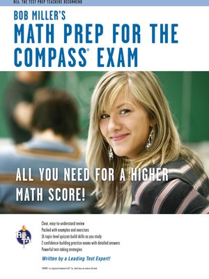 cover image of Bob Miller's Math Prep for the COMPASS Exam