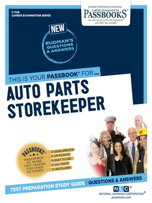cover image of Auto Parts Storekeeper