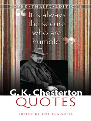 cover image of G. K. Chesterton Quotes