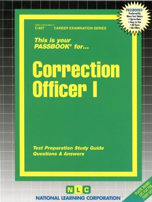 cover image of Correction Officer I