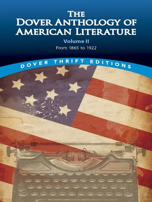 cover image of The Dover Anthology of American Literature, Volume II