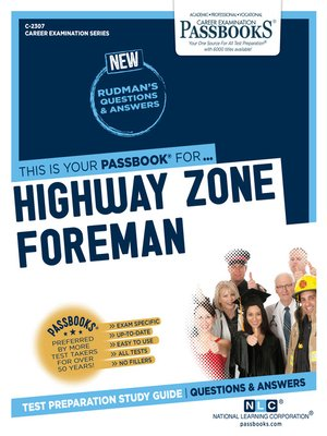 cover image of Highway Zone Foreman