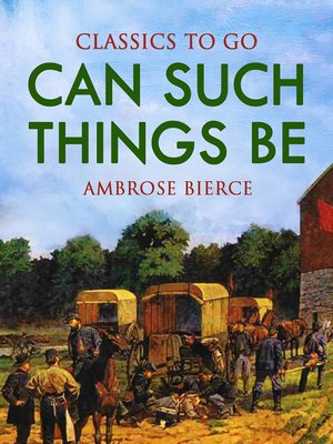 cover image of Can Such Things Be?