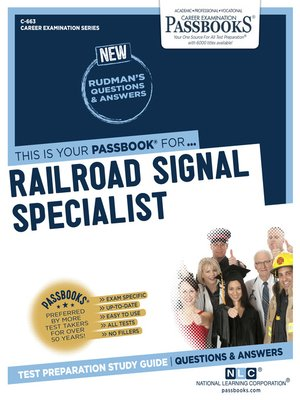 cover image of Railroad Signal Specialist