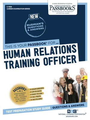 cover image of Human Relations Training Officer