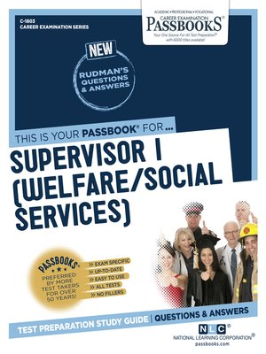 cover image of Supervisor I (Welfare/Social Services)