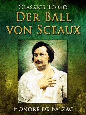 cover image of Der Ball von Sceaux