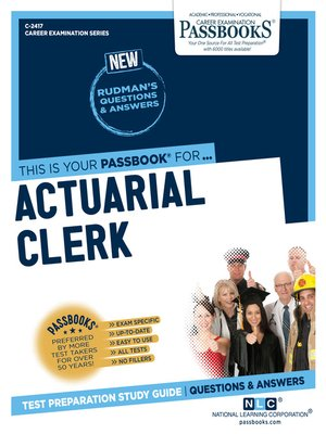 cover image of Actuarial Clerk