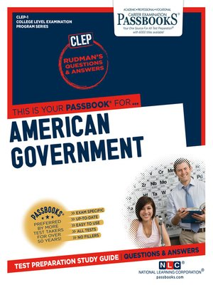 cover image of AMERICAN GOVERNMENT