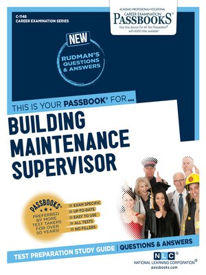 cover image of Building Maintenance Supervisor