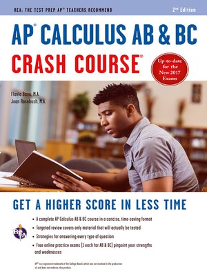 cover image of AP® Calculus AB & BC Crash Course Book + Online