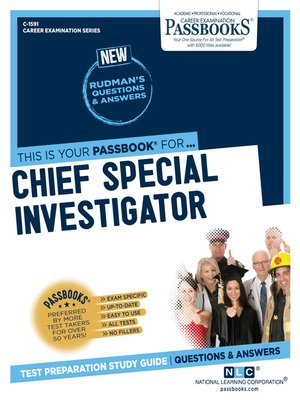 cover image of Chief Special Investigator