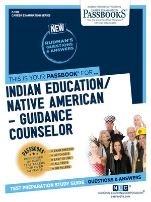 cover image of Indian Education –Guidance Counselor