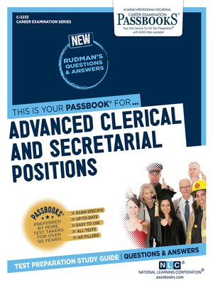 cover image of Advanced Clerical and Secretarial Positions