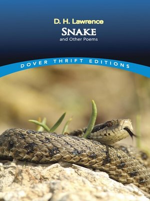 cover image of Snake and Other Poems