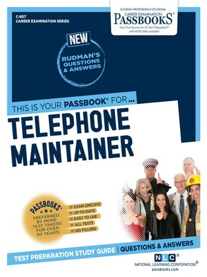 cover image of Telephone Maintainer
