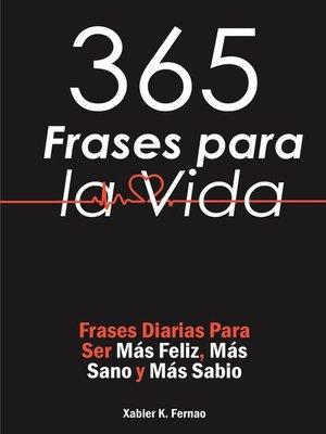 cover image of 365 Frases para la Vida
