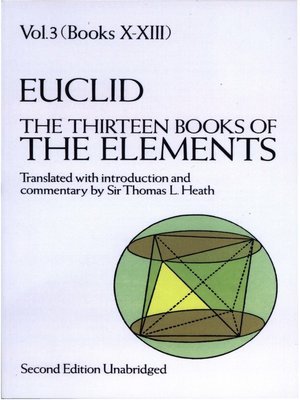 the thirteen books of the elements volume 3 by euclid overdrive