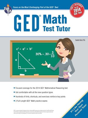 cover image of GED® Math Test Tutor, For the New 2014 GED® Test