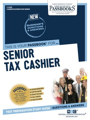 cover image of Senior Tax Cashier